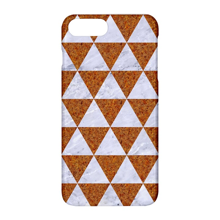 TRIANGLE3 WHITE MARBLE & RUSTED METAL Apple iPhone 8 Plus Hardshell Case