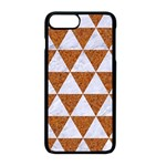 TRIANGLE3 WHITE MARBLE & RUSTED METAL Apple iPhone 8 Plus Seamless Case (Black) Front