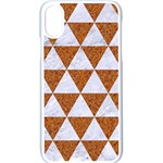 TRIANGLE3 WHITE MARBLE & RUSTED METAL Apple iPhone X Seamless Case (White) Front