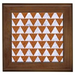 TRIANGLE2 WHITE MARBLE & RUSTED METAL Framed Tiles Front