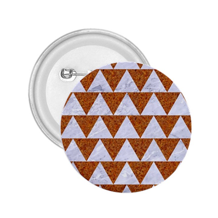 TRIANGLE2 WHITE MARBLE & RUSTED METAL 2.25  Buttons