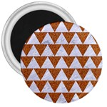 TRIANGLE2 WHITE MARBLE & RUSTED METAL 3  Magnets Front