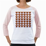 TRIANGLE2 WHITE MARBLE & RUSTED METAL Girly Raglans Front