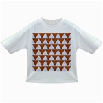 TRIANGLE2 WHITE MARBLE & RUSTED METAL Infant/Toddler T-Shirts Front