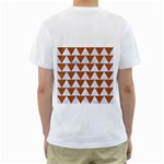TRIANGLE2 WHITE MARBLE & RUSTED METAL Men s T-Shirt (White) (Two Sided) Back