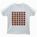 TRIANGLE2 WHITE MARBLE & RUSTED METAL Kids White T-Shirts Front