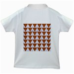TRIANGLE2 WHITE MARBLE & RUSTED METAL Kids White T-Shirts Back