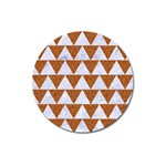 TRIANGLE2 WHITE MARBLE & RUSTED METAL Magnet 3  (Round) Front