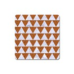 TRIANGLE2 WHITE MARBLE & RUSTED METAL Square Magnet Front
