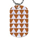 TRIANGLE2 WHITE MARBLE & RUSTED METAL Dog Tag (Two Sides) Front