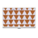 TRIANGLE2 WHITE MARBLE & RUSTED METAL Business Card Holders Front