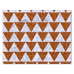 Triangle2 White Marble & Rusted Metal Rectangular Jigsaw Puzzl
