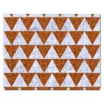 TRIANGLE2 WHITE MARBLE & RUSTED METAL Rectangular Jigsaw Puzzl Front