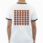 TRIANGLE2 WHITE MARBLE & RUSTED METAL Ringer T-Shirts Back