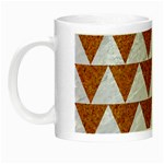 TRIANGLE2 WHITE MARBLE & RUSTED METAL Night Luminous Mugs Left