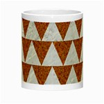 TRIANGLE2 WHITE MARBLE & RUSTED METAL Night Luminous Mugs Center
