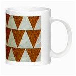TRIANGLE2 WHITE MARBLE & RUSTED METAL Night Luminous Mugs Right