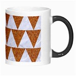 TRIANGLE2 WHITE MARBLE & RUSTED METAL Morph Mugs Right