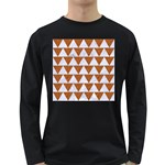 TRIANGLE2 WHITE MARBLE & RUSTED METAL Long Sleeve Dark T-Shirts Front