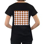 TRIANGLE2 WHITE MARBLE & RUSTED METAL Women s Loose-Fit T-Shirt (Black) Back