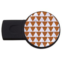 Triangle2 White Marble & Rusted Metal Usb Flash Drive Round (4 Gb)