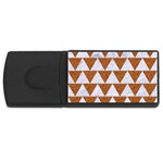 TRIANGLE2 WHITE MARBLE & RUSTED METAL Rectangular USB Flash Drive Front