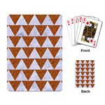 TRIANGLE2 WHITE MARBLE & RUSTED METAL Playing Card Back
