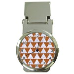 TRIANGLE2 WHITE MARBLE & RUSTED METAL Money Clip Watches Front