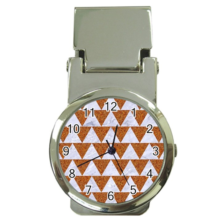 TRIANGLE2 WHITE MARBLE & RUSTED METAL Money Clip Watches