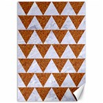 TRIANGLE2 WHITE MARBLE & RUSTED METAL Canvas 12  x 18   18 x12 Canvas - 1
