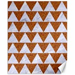 TRIANGLE2 WHITE MARBLE & RUSTED METAL Canvas 16  x 20   20 x16 Canvas - 1