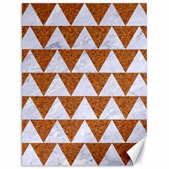 Triangle2 White Marble & Rusted Metal Canvas 18  X 24