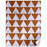 TRIANGLE2 WHITE MARBLE & RUSTED METAL Canvas 18  x 24   24 x18 Canvas - 1