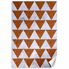 Triangle2 White Marble & Rusted Metal Canvas 20  X 30