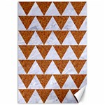 TRIANGLE2 WHITE MARBLE & RUSTED METAL Canvas 20  x 30   30 x20 Canvas - 1