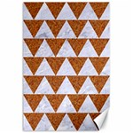 TRIANGLE2 WHITE MARBLE & RUSTED METAL Canvas 24  x 36  36 x24 Canvas - 1