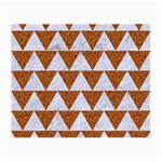TRIANGLE2 WHITE MARBLE & RUSTED METAL Small Glasses Cloth (2-Side) Back