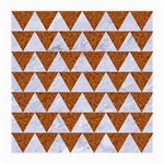 TRIANGLE2 WHITE MARBLE & RUSTED METAL Medium Glasses Cloth (2-Side) Back