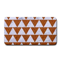 Triangle2 White Marble & Rusted Metal Medium Bar Mats