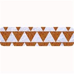 TRIANGLE2 WHITE MARBLE & RUSTED METAL Large Bar Mats 34 x9.03 Bar Mat - 1