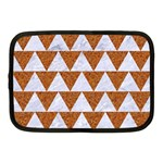 TRIANGLE2 WHITE MARBLE & RUSTED METAL Netbook Case (Medium)  Front