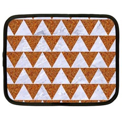 Triangle2 White Marble & Rusted Metal Netbook Case (large)