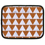 TRIANGLE2 WHITE MARBLE & RUSTED METAL Netbook Case (Large) Front