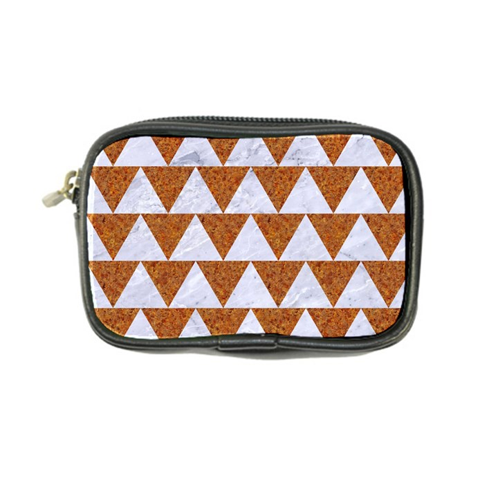 TRIANGLE2 WHITE MARBLE & RUSTED METAL Coin Purse