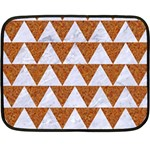 TRIANGLE2 WHITE MARBLE & RUSTED METAL Double Sided Fleece Blanket (Mini)  35 x27 Blanket Front