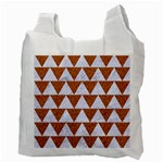 TRIANGLE2 WHITE MARBLE & RUSTED METAL Recycle Bag (Two Side)  Back