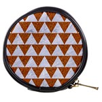 TRIANGLE2 WHITE MARBLE & RUSTED METAL Mini Makeup Bags Front