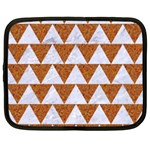 TRIANGLE2 WHITE MARBLE & RUSTED METAL Netbook Case (XXL)  Front