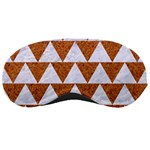 TRIANGLE2 WHITE MARBLE & RUSTED METAL Sleeping Masks Front