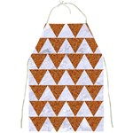 TRIANGLE2 WHITE MARBLE & RUSTED METAL Full Print Aprons Front